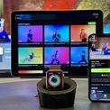 <p> Stream video bài tập từ Apple Fitness+ lên TV. Được giới thiệu cuối năm 2020, Fitness+ là dịch vụ hướng dẫn tập thể thao với thông số hiển thị theo thời gian thực trên Apple Watch. Từ iOS 14.5 và watchOS 7.4, người dùng Fitness+ có thể stream video minh họa bài tập lên TV hỗ trợ AirPlay 2 để theo dõi dễ dàng hơn. Ảnh: <em>CNET.</em></p>