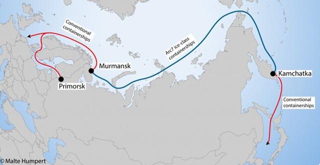 Nga từng đẩy mạnh đầu tư để phát triển tuyến đường biển Phương Bắc. Ảnh: Artic Today.