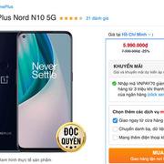 Smartphone 5G giảm giá mạnh