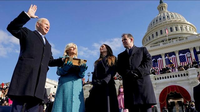 Ông Biden trong lễ nhậm chức. Ảnh: FT.
