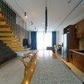 <p> Gỗ được sử dụng làm chất liệu nội thất chính tạo cảm giác ấm cúng cho ngôi nhà.</p>
