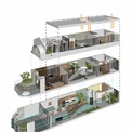 <p> Phối cảnh không gian 3 tầng nhà.</p>