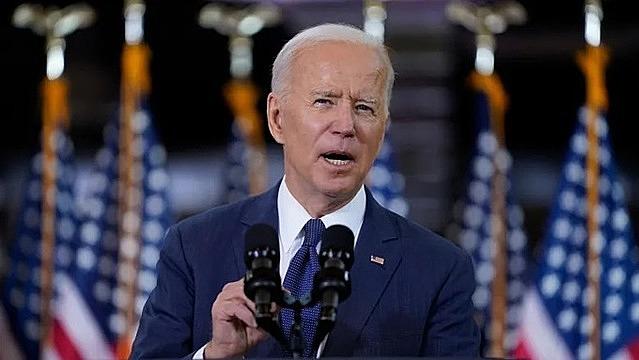 Tổng thống Mỹ Joe Biden công bố kế hoạch 2.000 tỷ USD hôm 31/3. Ảnh: AP