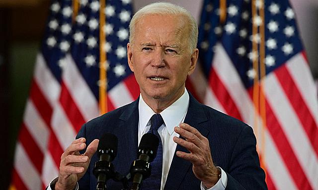 Tổng thống Mỹ Joe Biden phát biểu tại thành phố Pittsburgh, bang Pennsylvania, hôm 31/3. Ảnh: AFP.