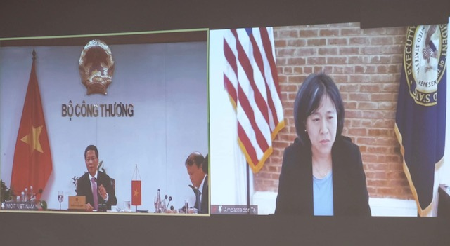 Bộ trưởng Công Thương điện đàm với Trưởng Đại diện Thương mại MỹKatherine Tai.