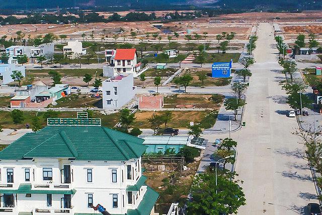 Một khu dự án đất nền ở quận Liên Chiểu, Đà Nẵng. Ảnh: Ngọc Trường.