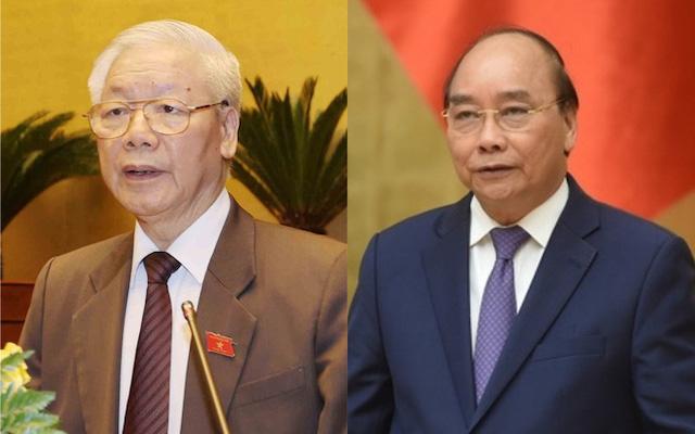 Tổng Bí thư, Chủ tịch nước Nguyễn Phú Trọng và Thủ tướng Nguyễn Xuân Phúc.