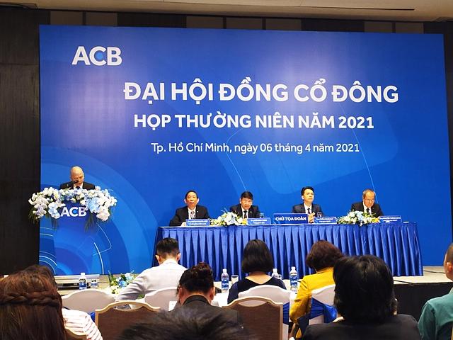Phiên họp ĐHĐCĐ thường niên năm 2021 của ACB.