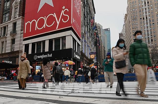 Quang cảnh tại quảng trường Herald ở New York, Mỹ ngày 8/1/2021. Ảnh: AFP/TTXVN