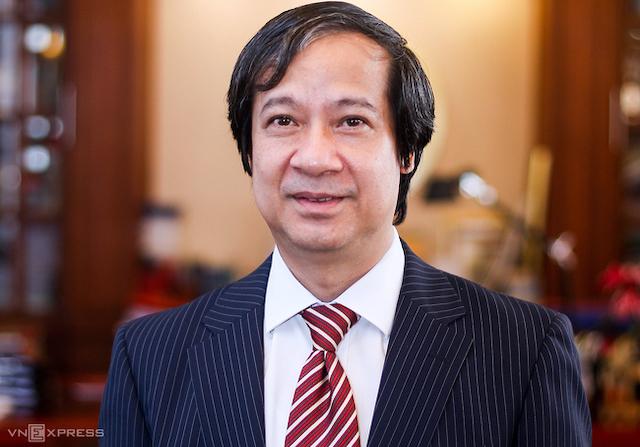 Bộ trưởng Giáo dục Đào tạo Nguyễn Kim Sơn.