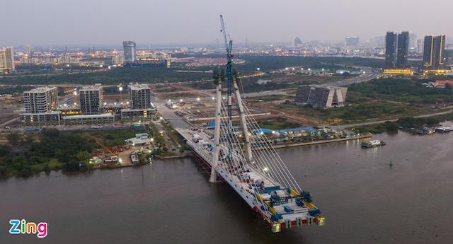 Cầu Thủ Thiêm 2 dự kiến hoàn thành năm 2022 và đưa vào khai thác năm 2023.