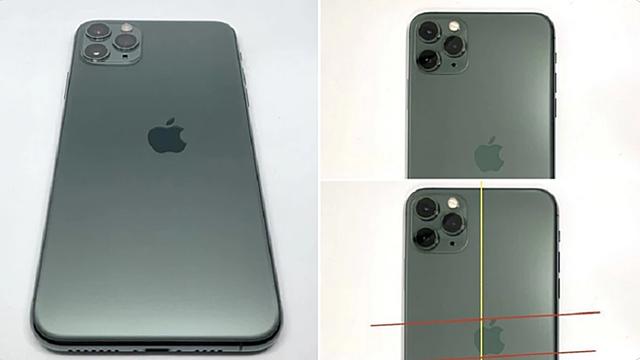 Chiếc iPhone 11 Pro bị lệch logo Apple được bán với giá 2.700 USD. Ảnh: PhoneArena.