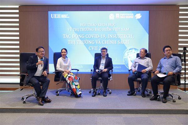 Hội thảo về bảo hiểm do trường DHKT TPHCM tổ chức. Ảnh: UEH.