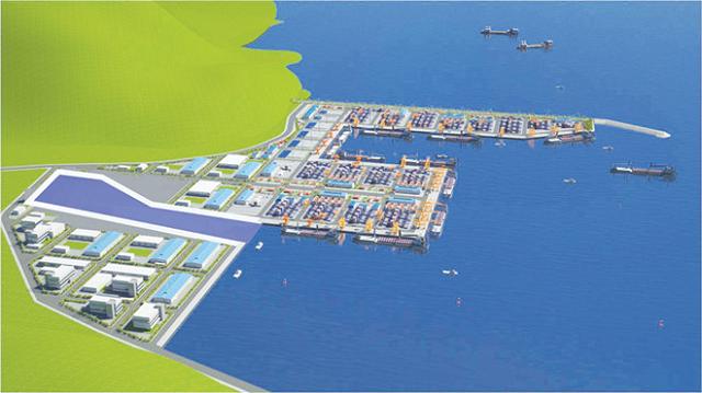 Phối cảnh cảng Liên Chiểu.