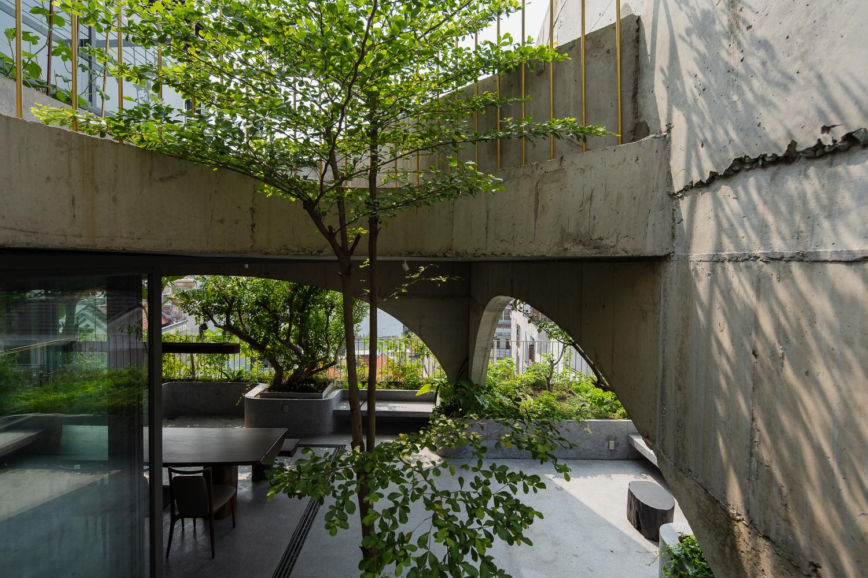 Nhà 6 tầng ngập cây xanh, yên bình giữa không gian phố chợ - Ảnh 6.