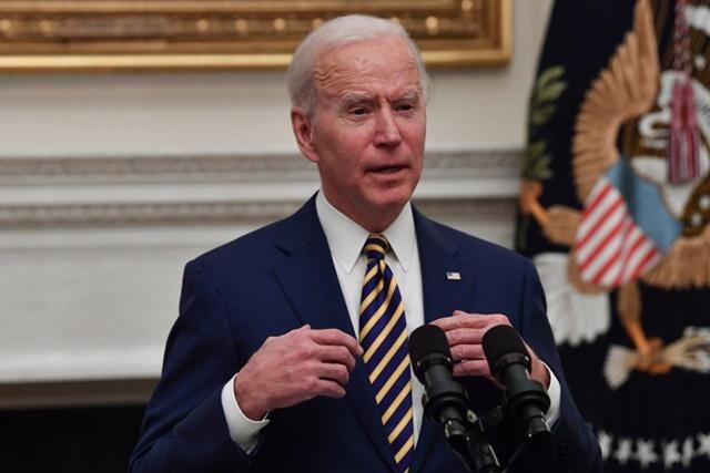 Tổng thống Mỹ Joe Biden phát biểu tại Nhà Trắng. Ảnh: AFP/ TTXVN