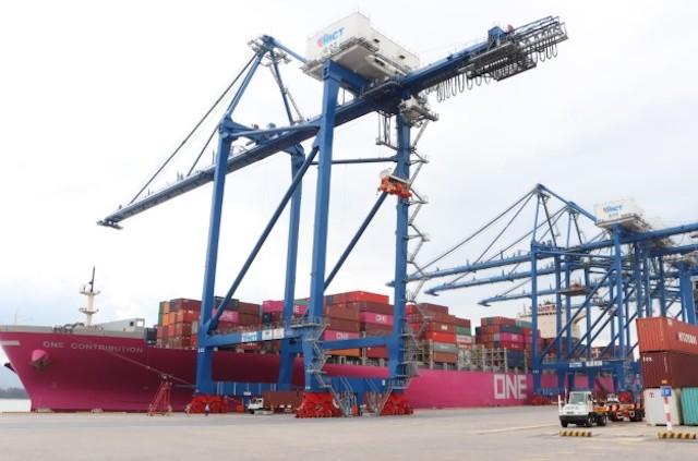 Tàu One Contribution có trọng tải 90.000 tấn, sức chở 8.560 TEU, dài 316 m, là một trong 11 tàu siêu trọng tải thuộc Liên minh THE Alliance vào làm hàng tại cảng TC - HICT hồi tháng 5/2020.