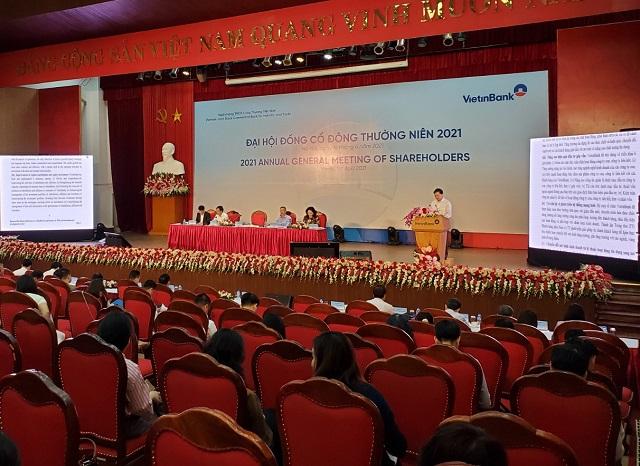 Phiên họp cổ đông thường niên của VietinBank. Ảnh: L.H