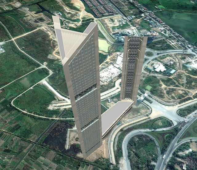 Mô hình dự án VietinBank Tower. Ảnh : VietinBank.