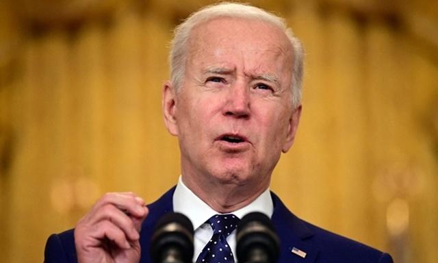 Tổng thống Mỹ Joe Biden phát biểu tại Nhà Trắng hôm 15/4. Ảnh: AFP.