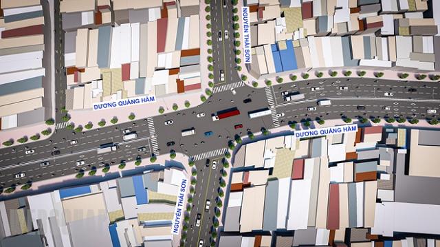 Phối cảnh dự án mở rộng, nâng cấp đường Dương Quảng Hàm. Ảnh: Ban BTGPMB quận Gò Vấp.