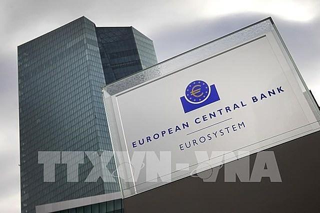 Trụ sở của ECB ở Frankfurt am Main, Tây Đức ngày 26/10. Ảnh: AFP/TTXVN