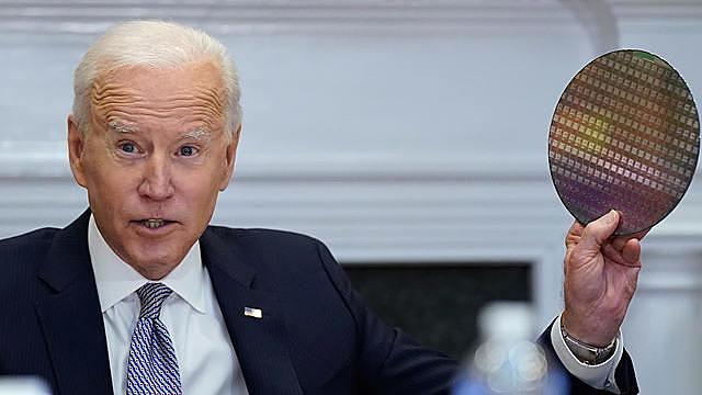 Tổng thống Mỹ Joe Biden tại cuộc họp hôm 12/4. Ảnh: AP.