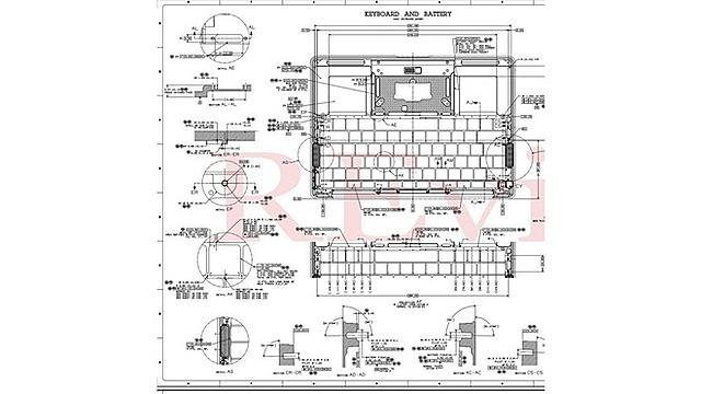 [Caption]Bản vẽ kỹ thuật của MacBook Air và MacBook Pro được nhóm hacker tiết lộ. Ảnh: 9to5mac.