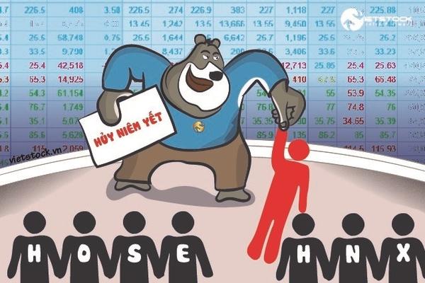 Án hủy niêm yết đang chờ gọi tên cổ phiếu nào?