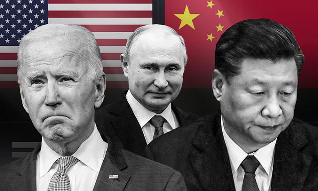 Từ trái qua phải: Tổng thống Mỹ Joe Biden, Tổng thống Nga Vladimir Putin và Chủ tịch Trung Quốc Tập Cận Bình. Ảnh: AP.