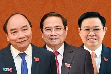 Bầu Chủ tịch nước, Thủ tướng, Chủ tịch Quốc hội vào tháng 7