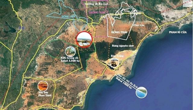 Ra đời từ hơn 10 năm nay, nhiều dự án du lịch tại tỉnh Bình Thuận vẫn chưa thoát khỏi tình trạng chậm triển khai với nhiều lý do (vướng quy hoạch titan, đền bù giải phóng mặt bằng...)