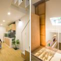 <p> Tầng trên và một gác lửng gồm 2 phòng ngủ cho bố mẹ và con. Ý tưởng thiết kế nội thất nhằm mục đích hướng đến các phòng ngủ có không gian mở về ánh sáng và thông gió tốt.</p>