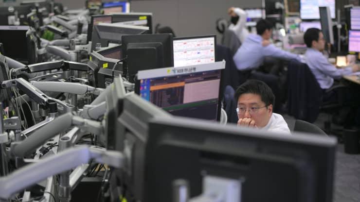 Chứng khoán châu Á hầu hết tăng sau phiên tích cực của Phố Wall