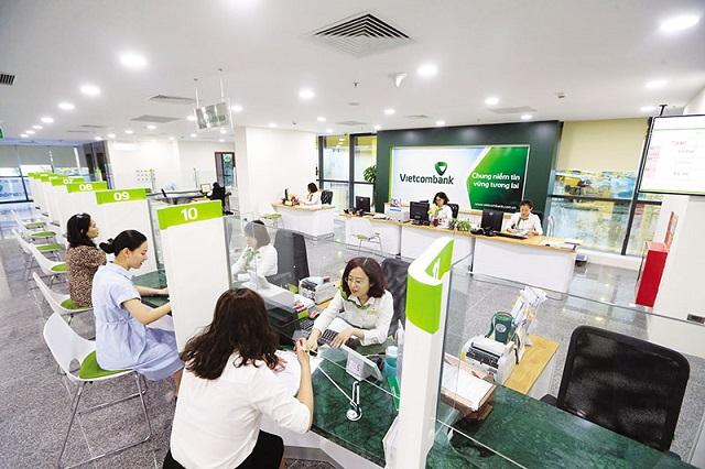 Nhiều ngân hàng báo lợi nhuận tăng mạnh trong quý I. Ảnh: Vietcombank.
