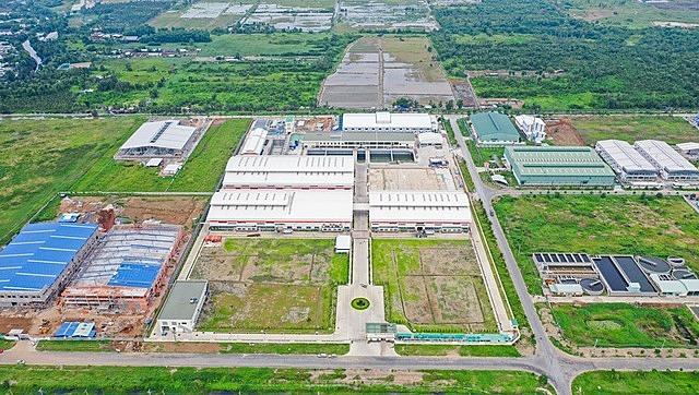 KCN Lê Minh Xuân 3 đang vướng phương án hệ số điều chỉnh giá đất để tính bồi thường, hỗ trợ tái định cư dự án. Ảnh: ricons.vn