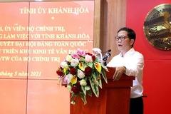 Trưởng Ban Kinh tế Trung ương: Ủng hộ việc Khánh Hòa đề nghị bổ sung quy hoạch các dự án điện khí, kho cảng đầu mối LNG có quy mô lớn