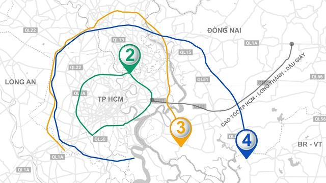 Ba tuyến vành đai giúp TP HCM kết nối các địa phương lân cận. Ảnh: Thanh Nhàn.