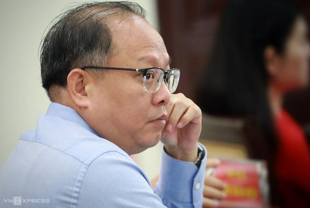 Ông Tất Thành Cang tại cuộc họp HĐND TP HCM hồi tháng 4/2019.