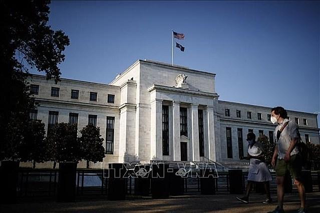 Quang cảnh bên ngoài Cục Dự trữ Liên bang Mỹ (Fed) ở Washington DC., ngày 27/8/2020. Ảnh: THX/TTXVN
