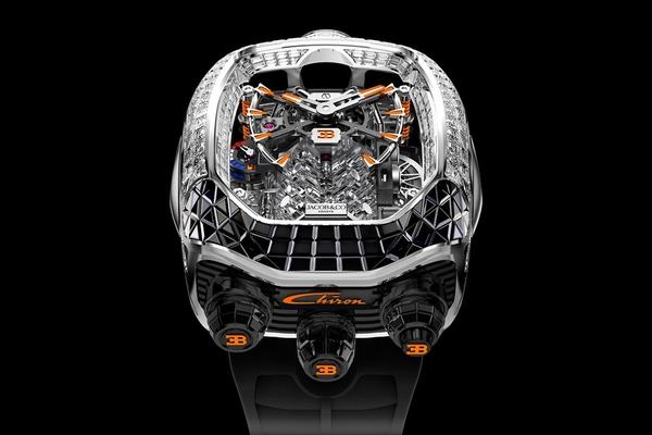 Jacob & Co bắt tay Bugatti ra mắt đồng hồ gắn 190 viên kim cương trắng
