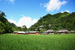 Trường học ở Sơn La giữa hùng vĩ núi đồi, sông nước xanh tươi