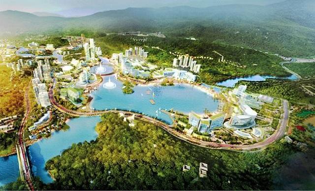 Phối cảnh dự án khu phức hợp nghỉ dưỡng giải trí cao cấp có casino ở Vân Đồn với vốn đầu tư hơn 46.000 tỷ đồng.