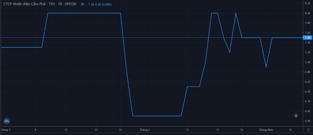 Diễn biến giá cổ phiếu NCP từ cuối tháng 3 đến 11/5. Nguồn: FireAnt.