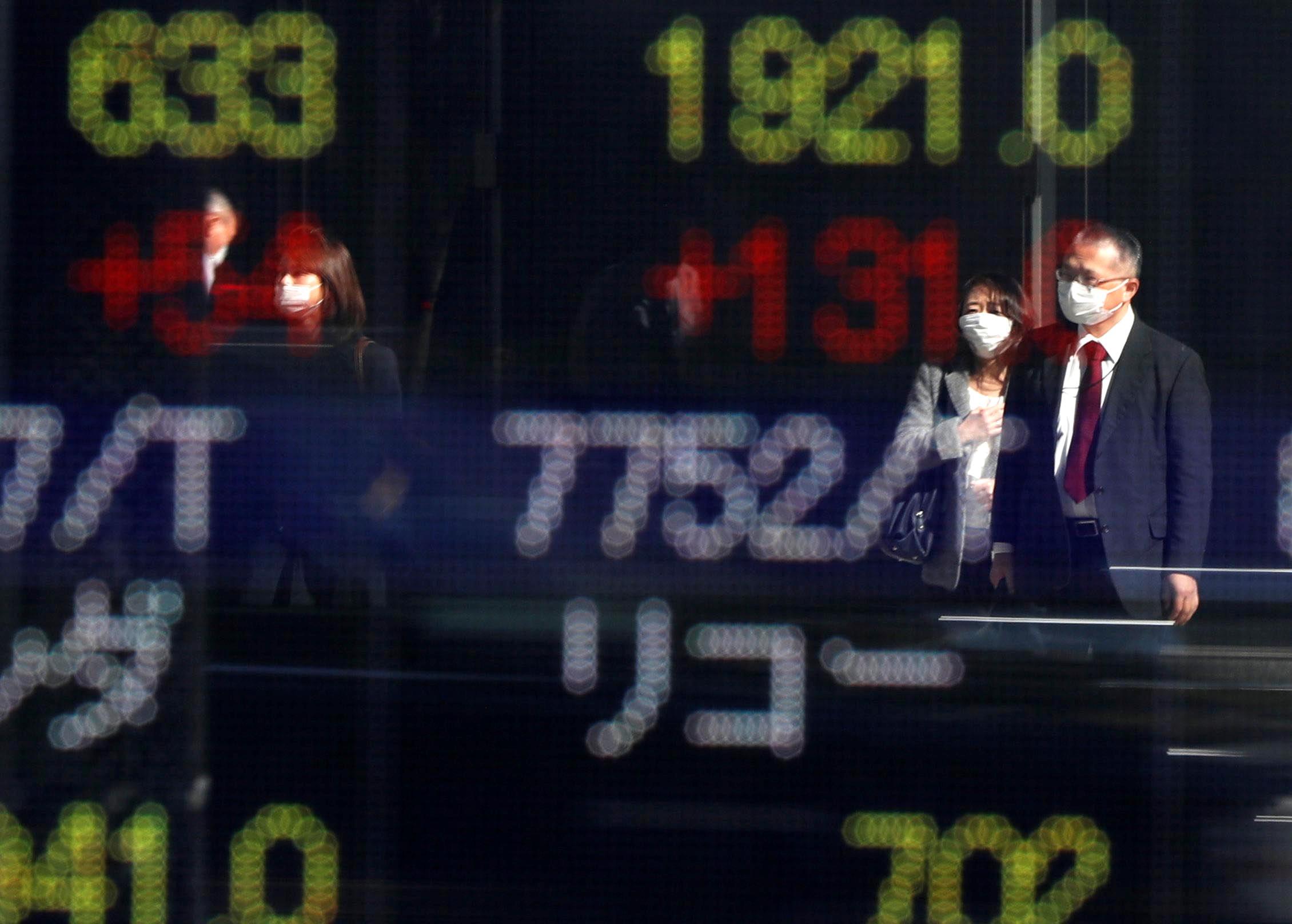 Chứng khoán châu Á tăng, nhiều thị trường phục hồi sau phiên giảm sâu