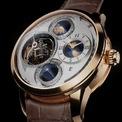 <p> Vacheron Constantin Armillary Tourbillon Planetaria Grand Complication có kích thước mặt số 46 mm cùng độ dày 20,2 mm. Mẫu đồng hồ gây ấn tượng với thiết kế mặt số độc đáo hiển thị ngày, tháng và giờ. Ảnh: <em>Vacheron Constantin.</em></p>
