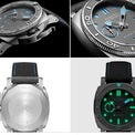 <p> Panerai Submersible ELab-ID được làm từ 98% vật liệu tái chế. Trong khi đó, mặt số có khả năng phát sáng trong đêm. Mẫu đồng hồ trang bị bộ máy tự động và có khả năng chống nước 300 m. Thiết bị sản xuất giới hạn 30 chiếc. Ảnh: <em>Vogue, Horologium.</em></p>