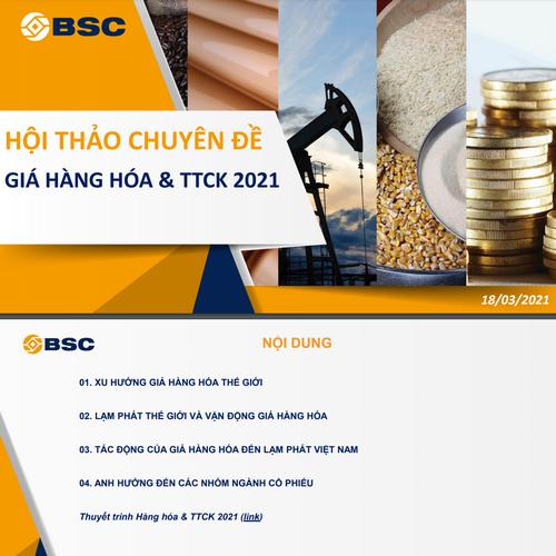 BSC: Xu hướng giá hàng hóa thế giới