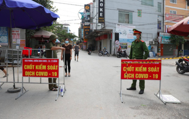 Bắc Giang giãn cách xã hội 4 huyện để phòng, chống dịch Covid-19.