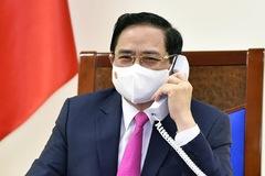 Thủ tướng Phạm Minh Chính lần đầu điện đàm với Thủ tướng Nhật
